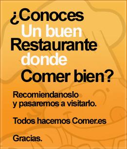 ¿conoces un restaurante donde comer bien?